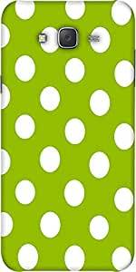 Snoogg Green Polka Dotted Designer Protective Back Case Cover For Samsung J7