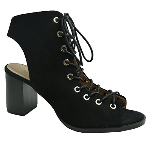 Cucu Fashion - Peep-Toe donna Black