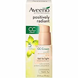Aveeno Positively Radiant CC Cream Fair to Light 2. 5oz SPF 30 NEW IN BOX