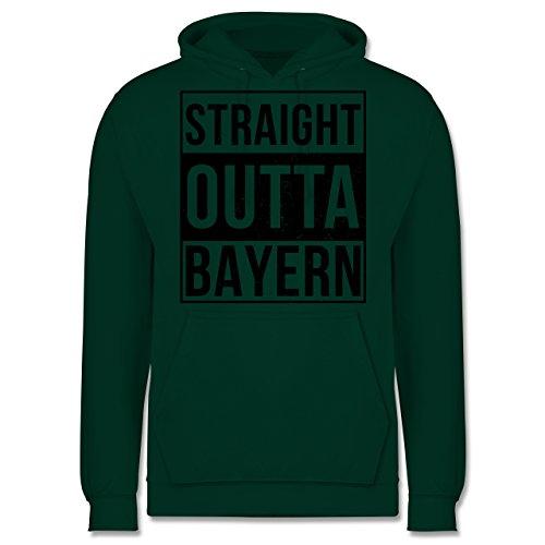 Bayern Männer - Straight Outta Bayern Schwarz - JH001 Herren Kapuzen Pullover Dunkelgrün