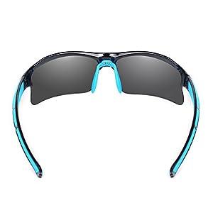 Ewin E20 Gafas de Sol de Deporte Polarizadas, UV400 Protección, Gafas Irrompibles (Negra y Azul)