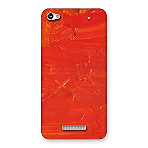 Orange Paint Back Case Cover for Micromax Hue 2