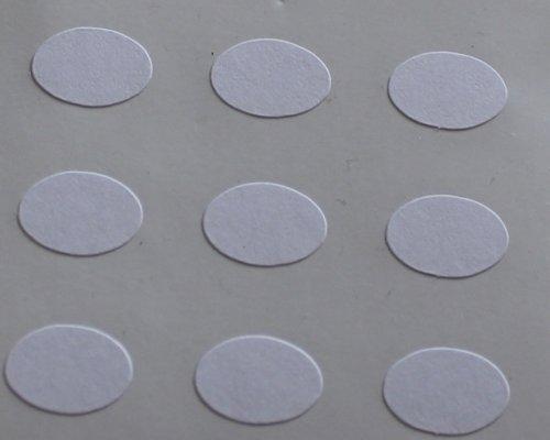 150 Etiquetas, 10x7mm Ovalados, Blanco, pegatinas autoadhesivas, Minilabel Formas