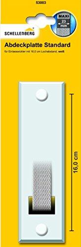 Schellenberg Abdeckplatte Lochabst 16, weiß, 53003