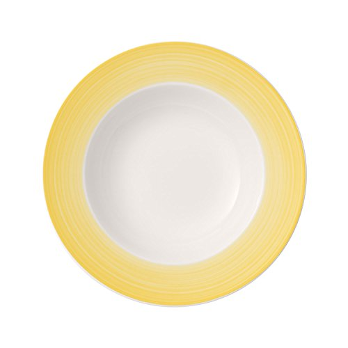 Villeroy & Boch Colourful Life Lemon Pie Plato Hondo, 25 cm, Porcelana...