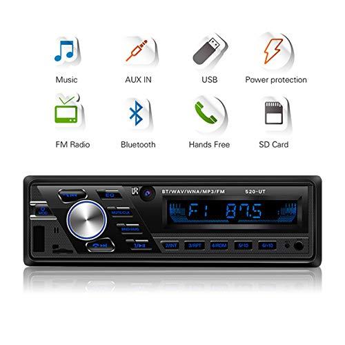 GOFORJUMP Auto Radio 12V Voiture/Camion Radio Bluetooth 1din Voiture Lecteur stéréo téléphone AUX Interface ISO MP3 FM/USB/Radio télécommande