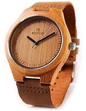 juhaich Holz Armbanduhr Bambus H