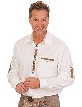 Trachtenhemd mit langem Arm - NORWIN - weiß
