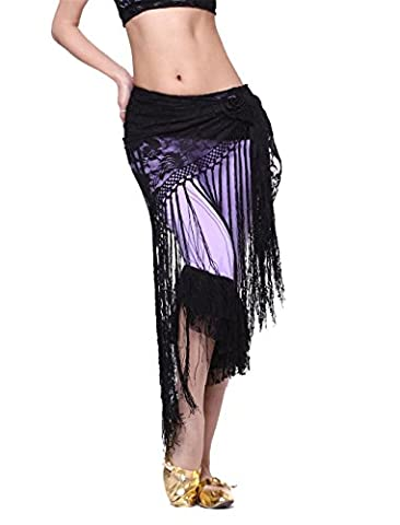 Dance Accessories Triangle Belt Costume Belly Dance Hip Scarf Skirt Lace Tassels Wrap