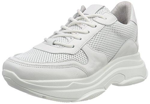 Steve Madden Damen Zela-P Sneaker, Weiß (White Leather 107), 39 EU