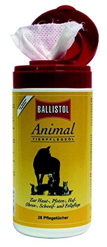 2 x Spenderbox je 28 Stück Einwegtücher Ballistol Animal Pflegeöl für alle Vierbeiner -