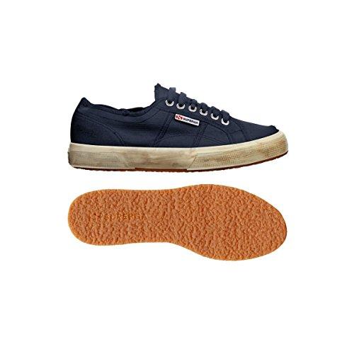 Superga  2750 Cotu Stone Wash, Unisex Sneaker Dunkelblau