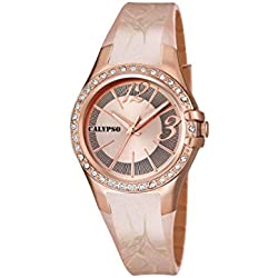 Calypso watches Damen-Armbanduhr XS K5624 Analog Quarz Plastik K5624/B