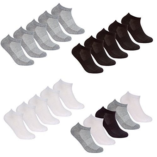 RedTag Active Ladies Ten Pair Multipack of Trainer Socks With Arch Support