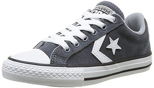 Converse, Star Player Junior EV Lace Ox, Sneaker, Unisex - bambino grigio (Grau (122 GRIS FONCE))