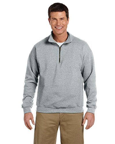 r Zip Cadet Halsband Sweatshirt - grau - X-Groß ()
