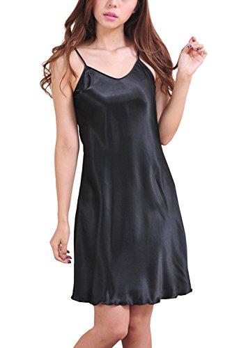 ASCHOEN - Robe de chambre - Uni - Femme Noir