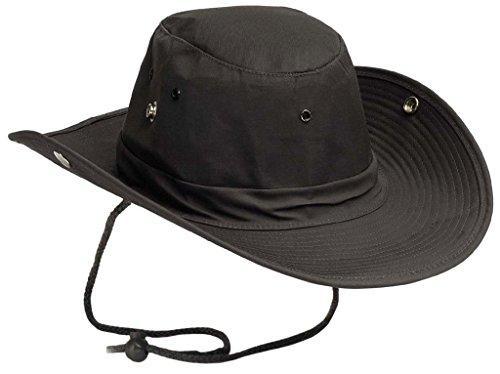 US Army Outdoor Buschhut Boonie Hat aus stabilem Rip Stopp in vielen Farben und Größen (M, Schwarz)