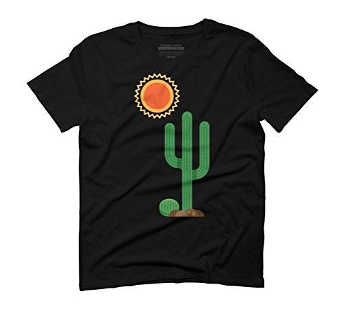 Cactus Men's Graphic T-Shirt - Design By Humans Black