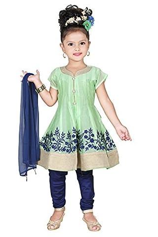 Ethnic Traditional Baby Girl Gown Anarkali Dupatta Suit Salwar Suit Churidar Maxi Legging Dress Wedding Prom Partywear + Leggings