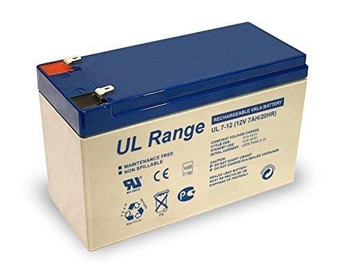 1x Ultracell UL7-12 PB 4,8mm Faston 187 Blei Bleigel Vlies Akku 12 Volt 12V 7,0Ah 7000mAh AGM Technik VDS Zulassung