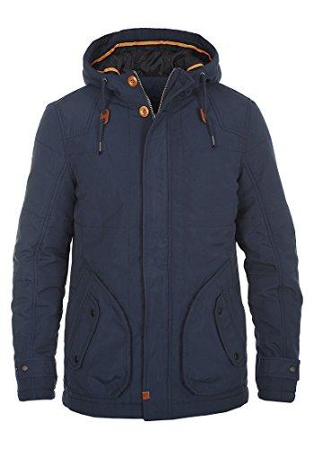 BLEND Polygon Herren Parka lange Winterjacke mit Kapuze aus hochwertiger Materialqualität Navy (70230)