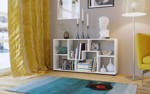 AISEN PISA B Weiß Regale, Wandregale, Standregale, Holzwerkstoff, melamin, 120 x 20 x 63 cm