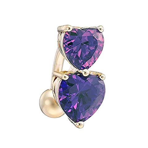 Butterme Damen Love heart Nabel Ring Mode Bauch Ring baumeln