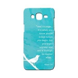 BLUEDIO Designer 3D Printed Back case cover for Samsung Galaxy A3 - G0324