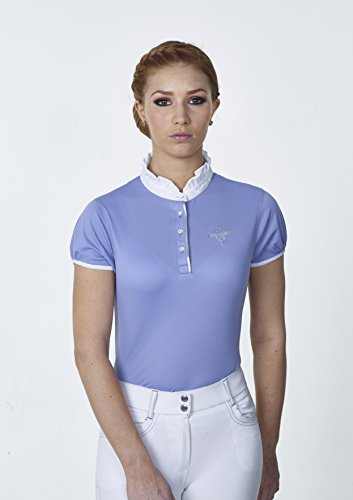 new-for-2016-just-togs-jewel-ladies-show-shirt-with-crystal-finish-all-sizes-colours-baby-blue-lge-u