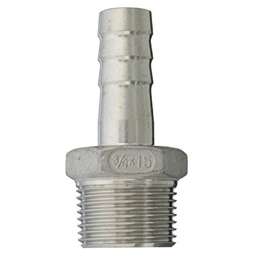 Kerlana 3/4 Inch Male Thread Pipe Barb Hose Tail Connector Adapter 15mm Bis 25mm-25mm (Color : -, Size : 15mm) -