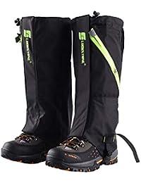 Nicololfle Wandern Gamaschen Beinschutz Abdeckung Boot Schnee Leggings für  Frauen Männer Damen Leichte Wasserdichte Atmungsaktive… 1fa8301563