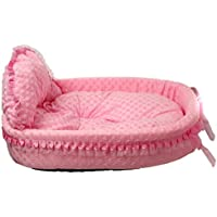 nicebuty-rose cama para mascota–perro gato animaux-taille 43* 38* 12cm