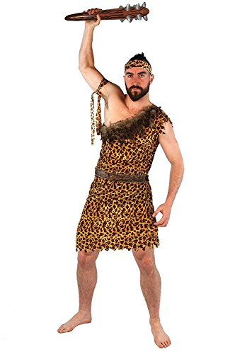 ILOVEFANCYDRESS - Disfraz de cavernícola para Hombre (Varias Tallas) Amarillo XXL