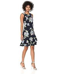 377bd7f7f08b9 ROBBIE BEE Women's Sleeveless Ruffle Hem Sheath Dress Casual