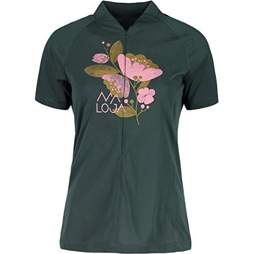 Maloja rahelm. Technische Allmountain 1/2Hemd und T-Shirt, Damen S grün (pine tree)