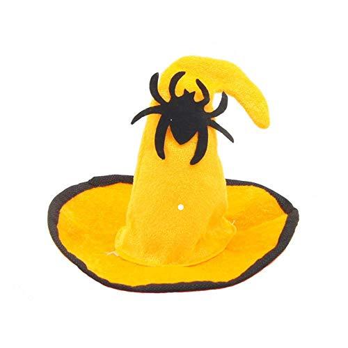 PetBoBo Pet Halloween Hat für Hunde Katzen Party Kleidung, Weihnachten Halloween cosplays Zubehör Urlaub Kostüm Supplies Hexe/Fledermaus/Kürbis/Spider