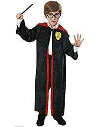 BOYS GIRLS HARRY CHILD WIZARD KIDS FANCY DRESS ROBE OUTFIT COSTUME 10 - 12 YEARS