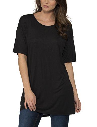 Bench Damen T-Shirt APOCALYPSE B, Gr. 38 (Herstellergröße: M), Schwarz (Jet Black BK014)