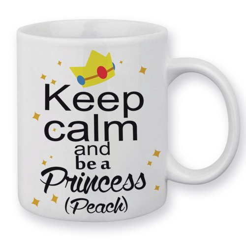 Mug Keep Calm an be a princess (Peach) - Fabriqué en France - Chamalow Shop