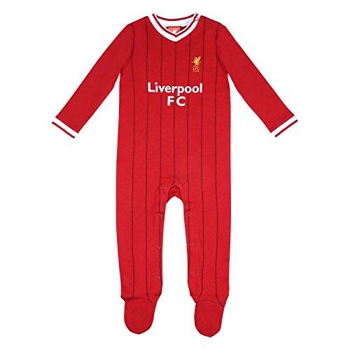 d74afd6f2d14d Liverpool FC officiel - Grenouillère thème football - bébé enfant - couleurs  maillot match à