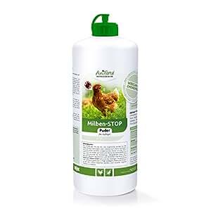 AniForte Milben-Stop Puder 1 Liter in Stäube-Flasche, Naturprodukt für Hühner und Geflügel gegen rote Vogelmilben