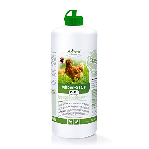 aniforte polvere di acari stop 1l per polli, uccelli, oche e pollame, terra di diatomee, difesa naturale contro insetti e parassiti, integratori de antiparassitario