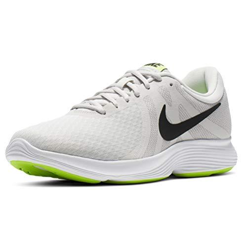 Nike Revolution 4 EU, Scarpe da Running Uomo, Grigio (Platinum Tint/Black/Electric Green/Atmosphere Grey/White 005), 44
