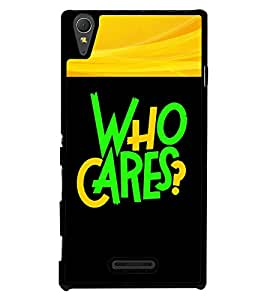 Fuson 2D Printed Quotes Designer back case cover for Sony Xperia T3 - D4343