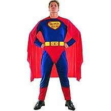 COSTUME DA SUPERMAN SUPERHERO ADULTO TAGLIA UNICA