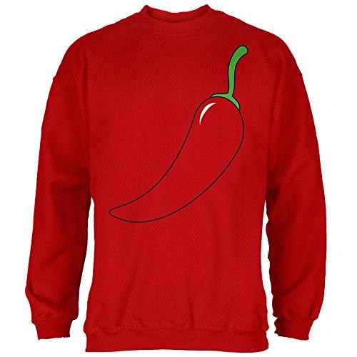Halloween-Chili Pepper-Kostüm Cinco de Mayo Herren Sweatshirt rot (Kostüm Mayo Halloween)