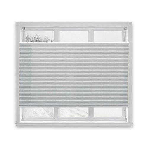 casa pura® Plissee Rollo | mit eleganter Crushed Optik | Klemmfix ohne Bohren | lichtdurchlässig & blickdicht | hellgrau | 24 Größen (80x100cm)