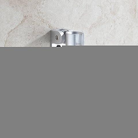 La cucina e il bagno Asciugamani rampa gancio/Rack per montaggio a parete:ricoprire Robe Hat vestiti per il montaggio a parete Staffa gancio porta asciugamani,scanner brandeggiabilli spazio doccia doccia in alluminio telaio di base, con ganci (Set di