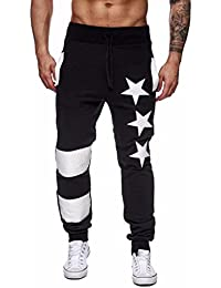 Pantalón para hombre,Longra ★ Hombre Primavera Casual Patchwork pantalones de camuflaje pantalones de chándal / Casual Jogging…